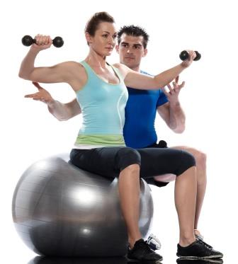 personal training exercise ball