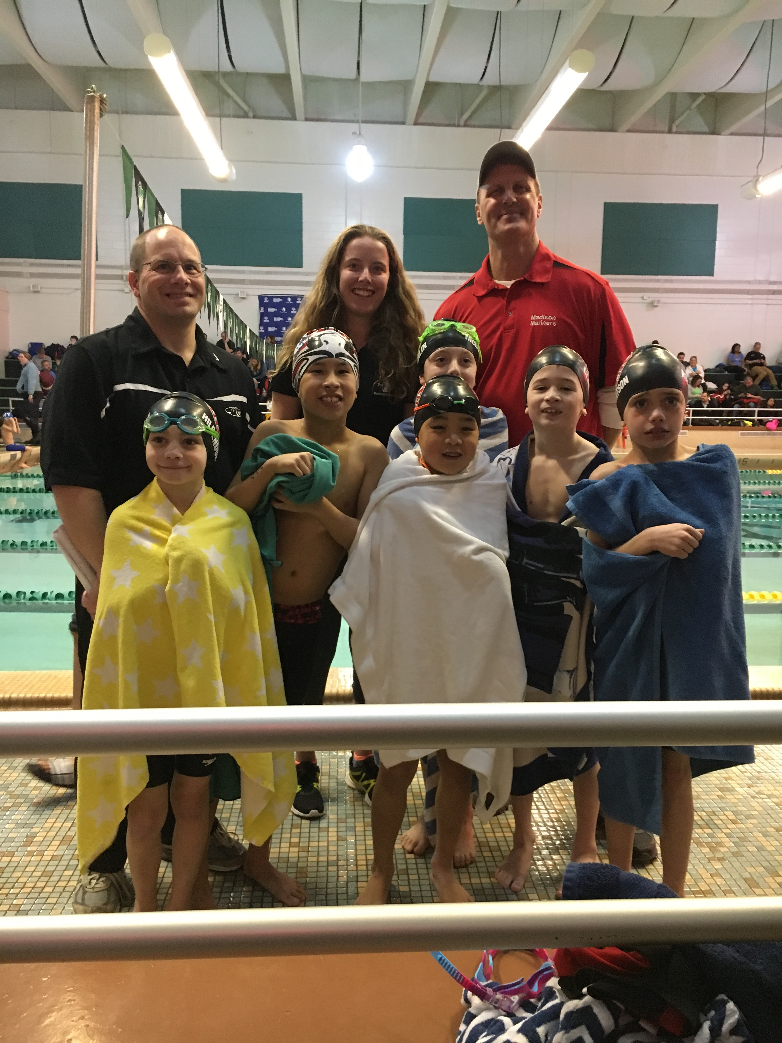 8 and under boys champs swimmers