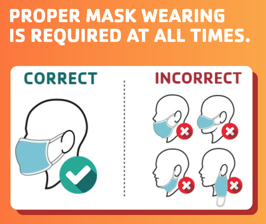 proper mask wearing icon home page box